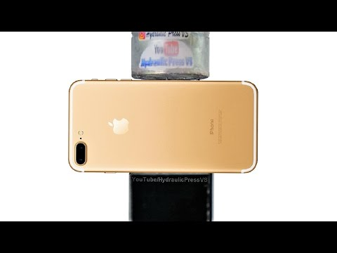 iphone 7 plus vs hydraulic press how to get a headphone jack youtube