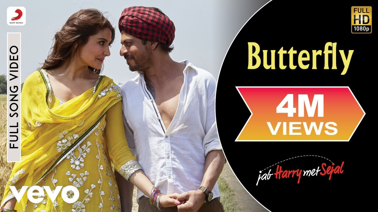 Download Butterfly Full Video - Full Song Video | Anushka | Shah Rukh | Pritam