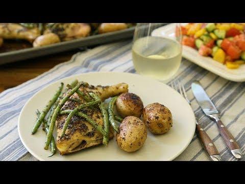 poulet-et-légumes,-à-la-grecque