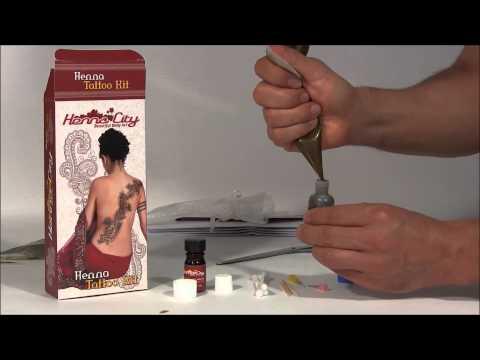 Mehndi Henna Tattoo Kit Tutorial