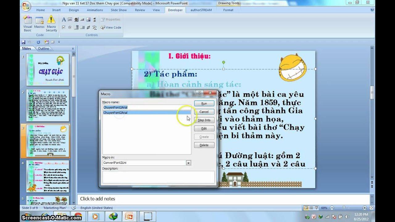 Chuyển đổi toàn bộ font tiếng Việt sang Unicode