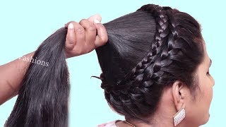 Different Hairstyles for party/wedding/work || hairstyle for long hair girls | hair style girl