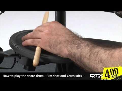 Yamaha TP70S 3-zone rimshot capable snare pad.