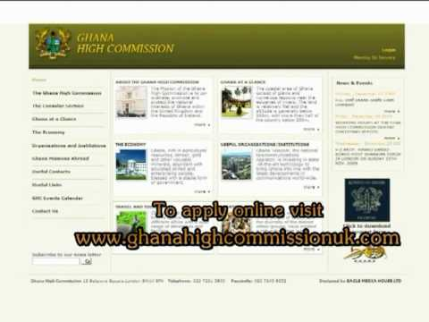Demonstration on how to apply for Ghana passport online in UK