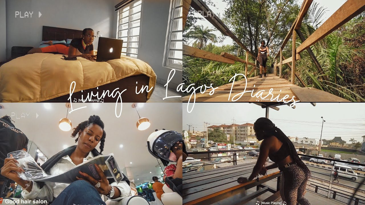 LIFE IN LAGOS| Longest Canopy walkway in Africa, Making Breakfast, Editing in a Cafe,Salon visit