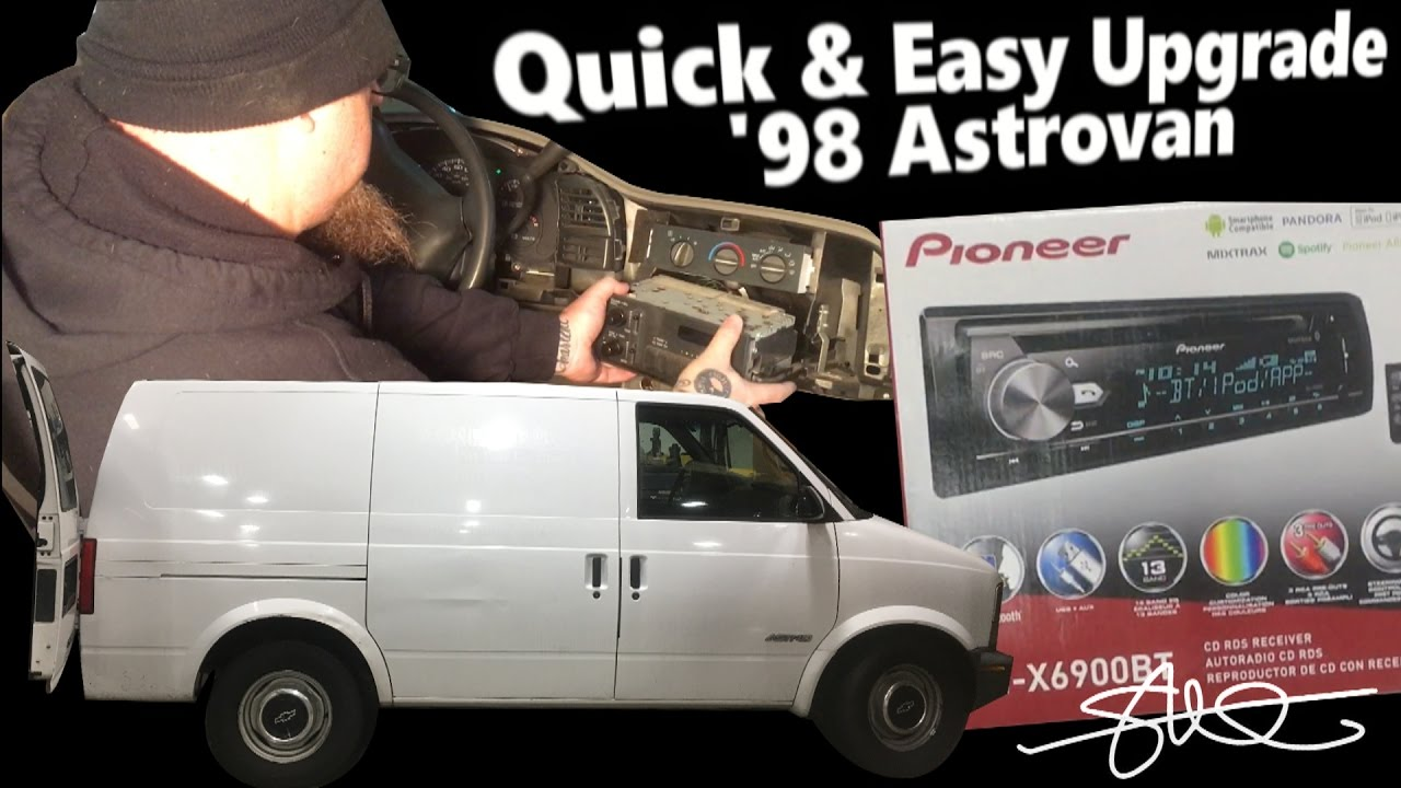 medium resolution of quick easy sound upgrade 98 astrovan head unit swap stock to pioneer in minutes youtube