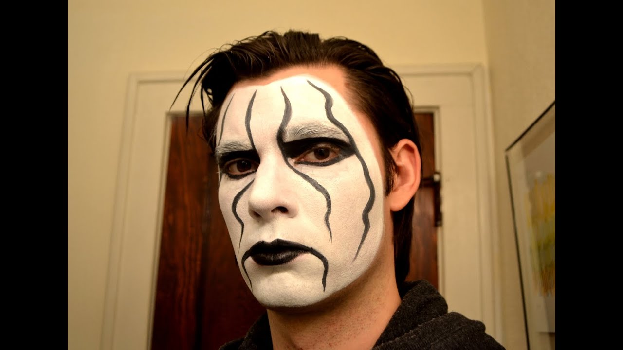 sting makeup tutorial wcw tna wwe raw youtube