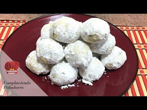 Besitos de Nuez o Galletitas de postre para navidad | Snowballs cookies or Pecan balls