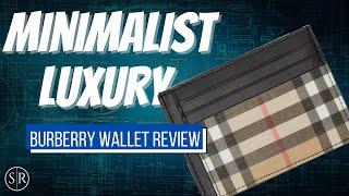 NEW! Men's Burberry Money Clip Slim Wallet - Burberry Series Ep. 9