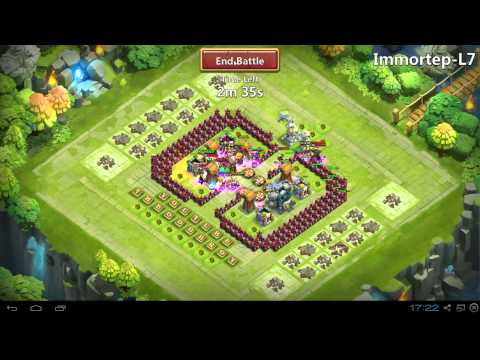 Castle Clash 6th Hero Base! Farming H And Doing L6-L7