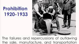 1920s Post-War America: Prohibition and Disillusionment