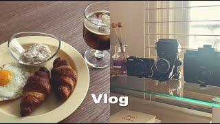 (vlog)끝나지않는재택근무/집콕라이프/데스크정리/새로…
