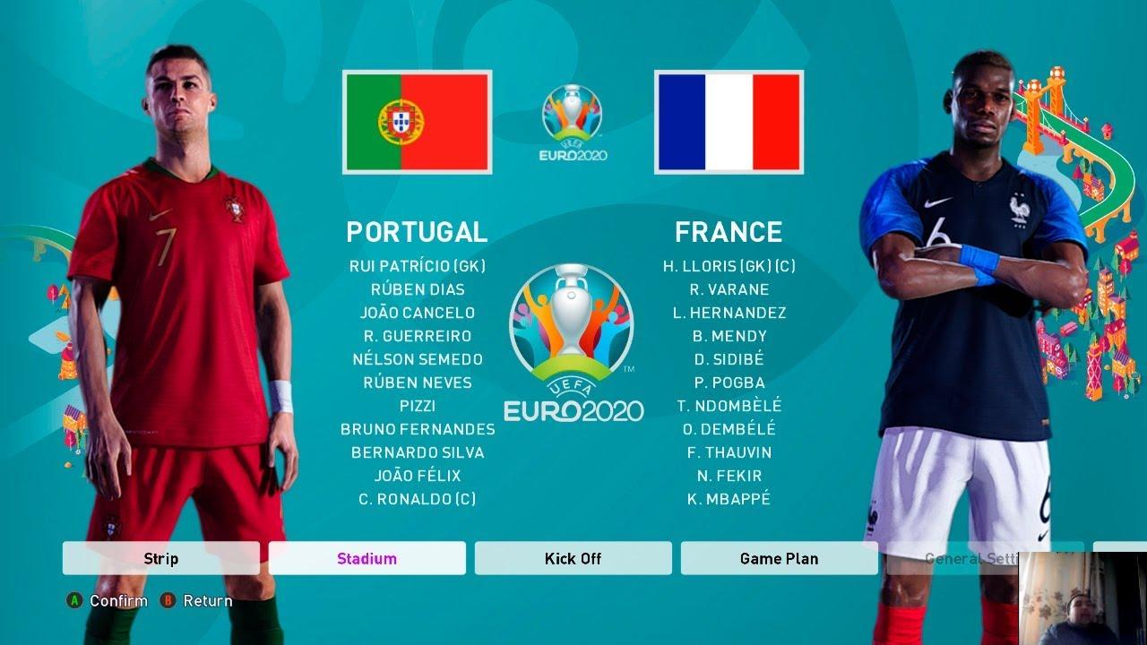 Pes 2020 France Vs Portugal Euro 2020 Full Match All Goals Hd Youtube