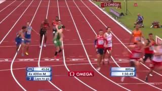Чемпионат Европы по легкой атлетике-2016. Эстафета 4х400. Мужчины. Финал. Украина 6-е место
