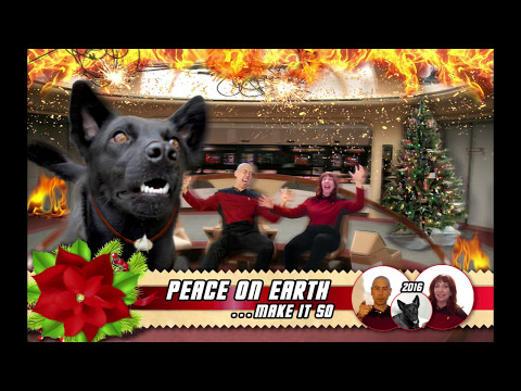 2016 Star Trek Holiday Card, The making of . . .