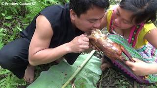 Primitive Technology: Bird Trap - Finding and cooking Biggest Birds In The World - Eating delicious