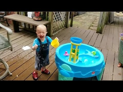 Funny Babies Water Fails - Funny  Baby Playing With Water - Youtube
