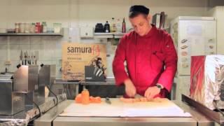 Экстремальный тест ножей Samura(Наш шеф-повар Владимир проверяет, как ножи Samura Shadow и Samura Damascus справятся с нарезкой самой твердой сырокопчен..., 2015-10-07T15:06:32.000Z)