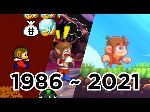 Evolution Of Alex Kidd; 18 Games (1986 To 2021) [See Description]