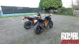 ktm 1290 super duke gt meets the 1290r
