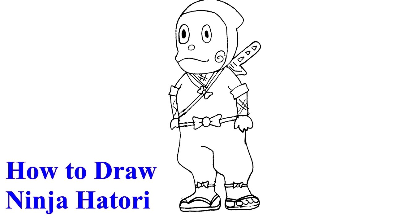 Uncategorized How To Draw A Ninja Easy how to draw ninja hattori step by youtube step