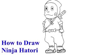 How to Draw Ninja Hattori Step By Step