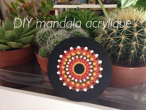 Mandala Acrylique Sur Bambou Dot Painting Youtube