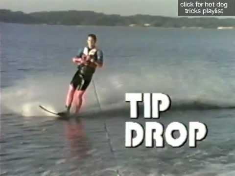How to WAKE JUMP on a Slalom Ski- Tip Drop & Mule Kick - Hot Dog Water Skiing Tricks