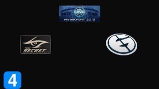 Highlights Team Secret vs Evil Geniuses Game 4- ESL One Frankfurt 2015