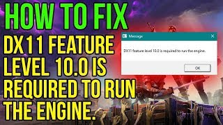 How to Fix Fortnite DX11 Level 10 required (PC) NEW* WORKING*