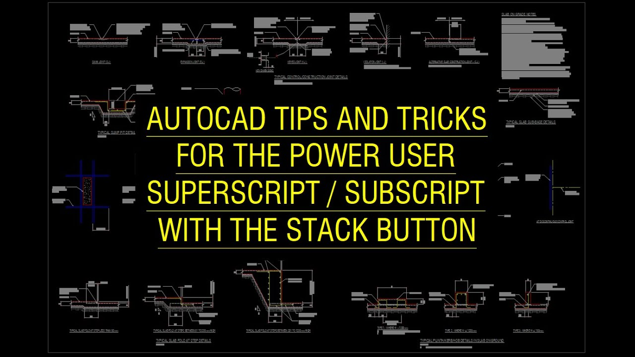 how to write subscript in autocad