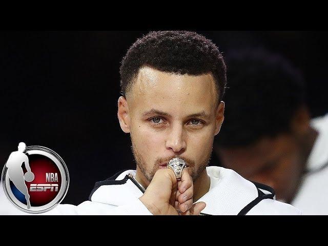 Steph Curry, Warriors raise banner before season-opening win vs Thunder | NBA Highlights