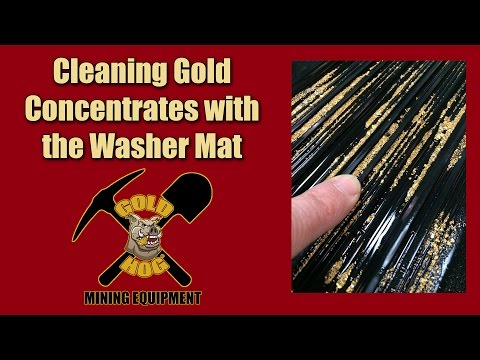 Cleaning Placer Gold from Black Sands - GoldHog Washer Mat