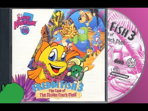 A SOMEWHAT WALKTHROUGH OF FREDDI FISH 3 THE CASE OF THE STOLEN CONCH SHELL IN HD