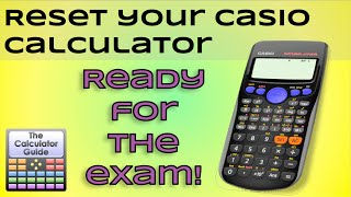 Reset Your Calculator, Ready for the Exam - Casio Calculator Fix - fx-83GT, fx-85GT PLUS, Hack