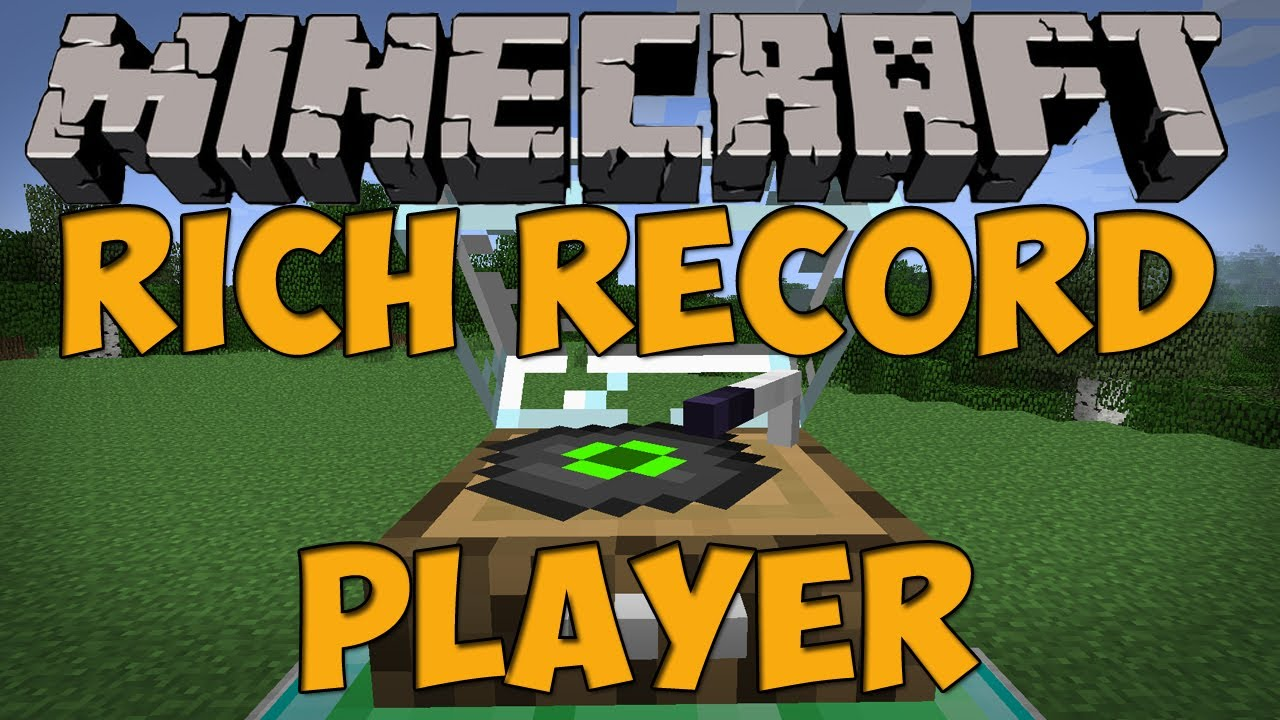 Minecraft Mods Rich Record Player Mod Moving Disc Player 147