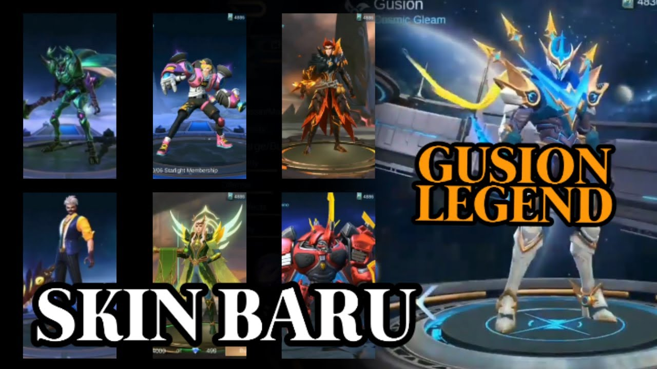 7 SKIN BARU Dari Moonton Ada GUSION LEGEND Mobile Legends