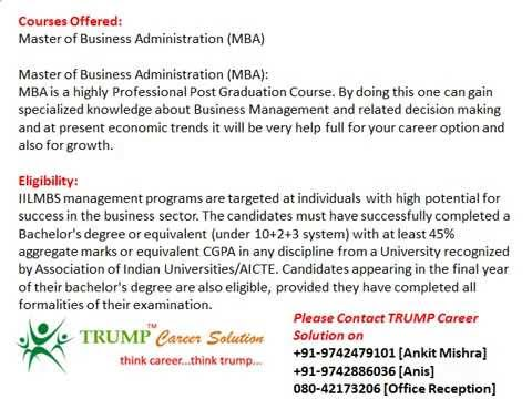 MBA Admission in International Institute for Learning in Management Business School, Pune