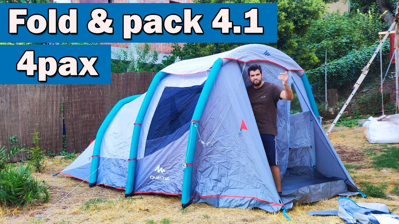 98f075778 Fold and pack camping tent Air Seconds 4.1 family XL Quechua Decathlon 🏕️