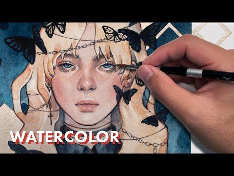 WATERCOLOR // Painting Billie Eilish in My Sketchbook