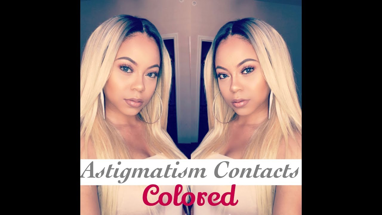 update on my astigmatism colored contacts youtube