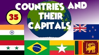 Name of Countries and Capitals of the world | COUNTRY FLAGS OF THE WORLD for Children