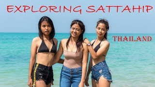 On a Tourist Tour with the Thai Girls on a Beach at Sattahip, Thailand