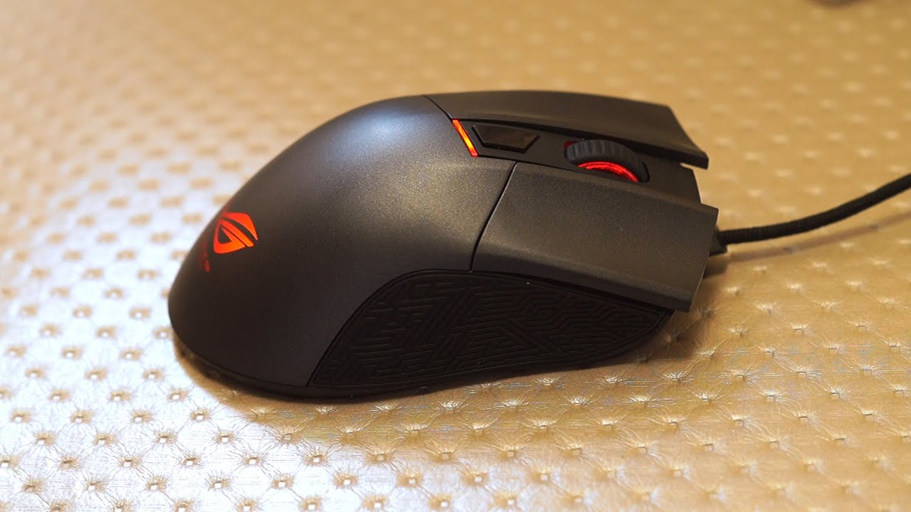 ASUS ROG GLADIUS 6400 DPI Gaming Mouse - Full Review - YouTube