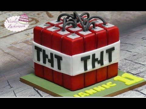 Minecraft Tnt Fondant Torte Motivtorte Minecraft Cake Von