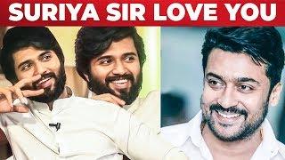 """Suriya sirrr 🤗 I love you"" – Vijay Devarkonda"