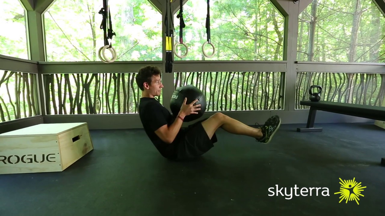 Movement Library: The Russian Twist with Medicine Ball Movement Library