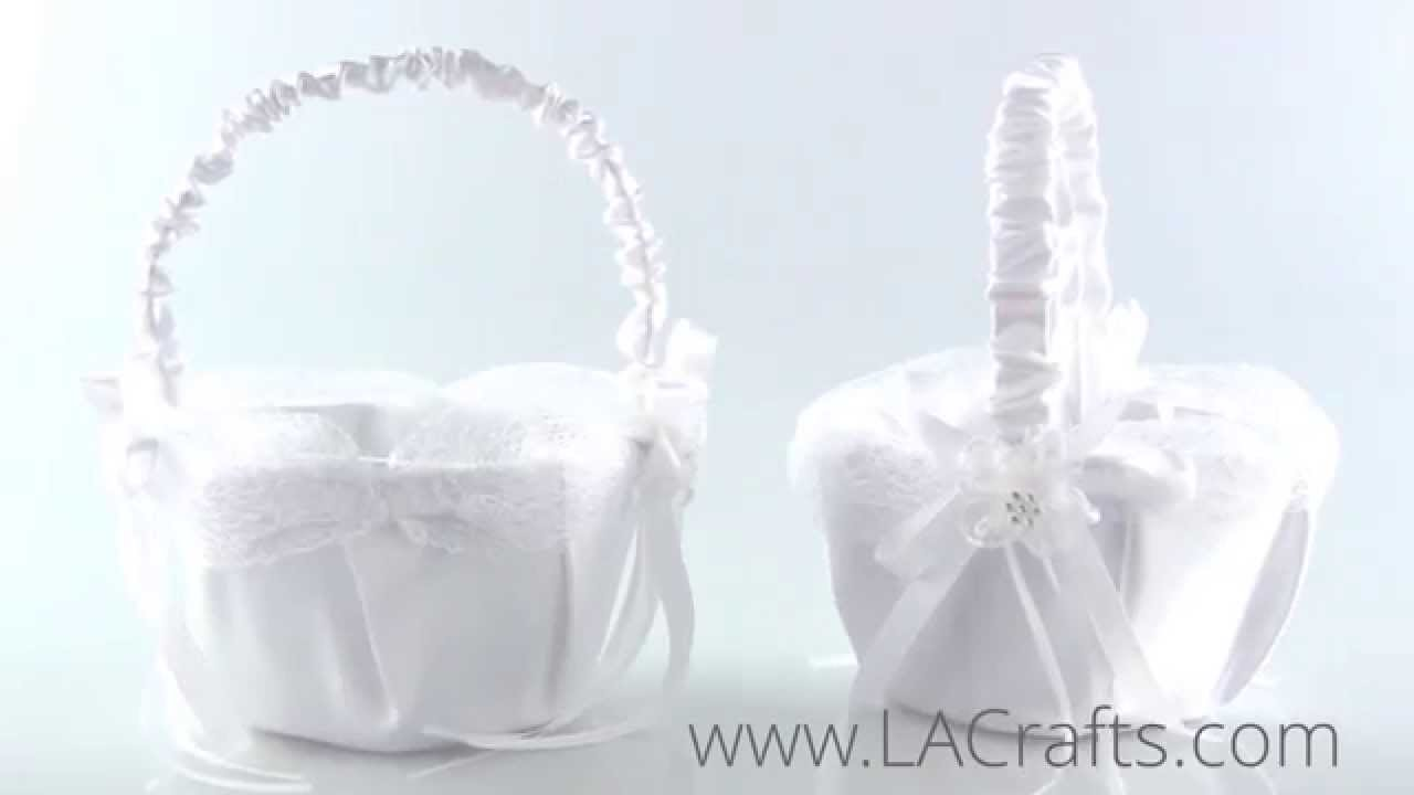 Satin Flower Girl Basket Design 1 From Lacrafts Youtube