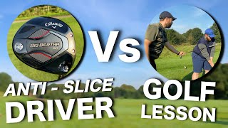 THE TRUTH: 'Anti-Slice' Driver Vs Golf Lesson | Ca...