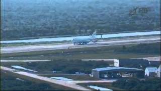 NASA 905 lands at KSC to fly Shuttle Discovery to Smithsonian Steven F. Udvar-Hazy Center